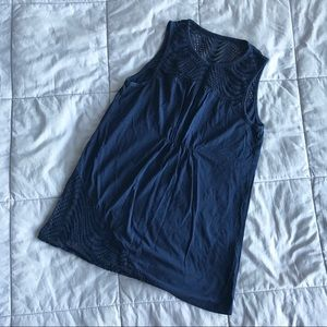 [Two by VC] Navy Ruched Tank